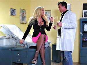 MILF blonde loves the doctor's big cock