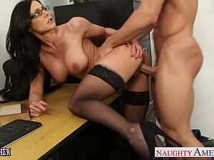 Horny Kendra fucked on her desk