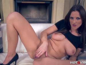 Hot wife is lonely so she gets fresh with her tight pussy